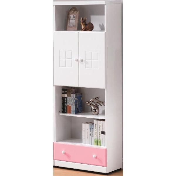 書櫃 書櫥 FB-560-4 童話粉紅雙色下抽雙門書櫃【大眾家居舘】