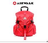 AIRWALK 繽紛三叉系列後背包-大(六色)  紅色