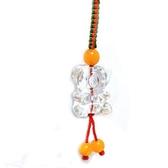 白水晶小熊中國結吊飾