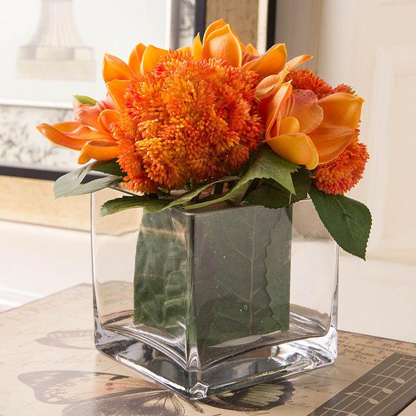 模擬花假花 套裝 花藝 客廳餐桌 裝飾花 花瓶花束 -bri01081