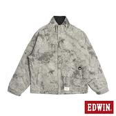 EDWIN 雙面穿防寒外套-男款 灰色