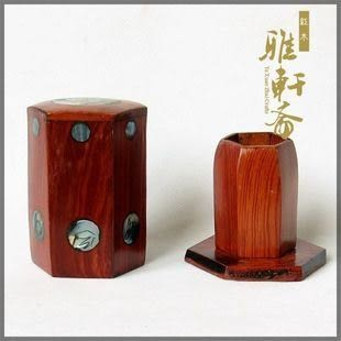 越南紅木工藝品*酸枝木*雞翅木*六角嵌貝*紅木牙簽盒