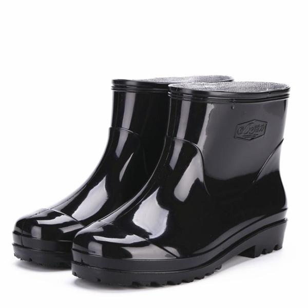 低筒防水雨雪靴膠鞋雨鞋套防滑加厚耐磨成人廚房工作短筒男女水鞋潮 【萬聖夜來臨】