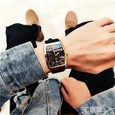 酒桶型手錶男中學生韓版日歷防水方形商務男士時尚抖音網紅石英錶 3C優購