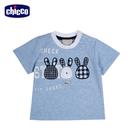 chicco-玩具車-短袖上衣-藍...