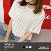 中大尺碼短袖T恤上衣★ifairies【48178】