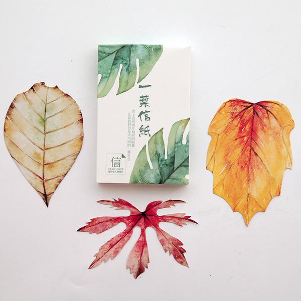 唯美樹葉形狀異形創意明信片新年卡片 文藝風趣味書簽小清新卡片圣誕留言卡生日賀卡禮物