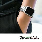 Apple Watch 不鏽鋼三珠蝶扣錶帶-贈拆錶器(星空銀-44mm)