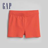 Gap女幼童 舒適彈力鬆緊休閒短褲 259454-珊瑚紅橙