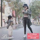 男童外套 女童外套 親子外套 格紋連帽風衣外套 QB allshine-小孩