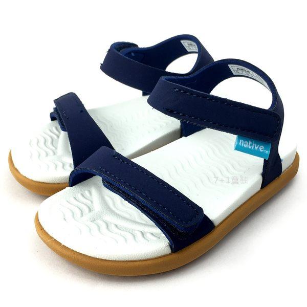 《7+1童鞋》小童 Native CHARLEY 防水 涼鞋 6054 藍色
