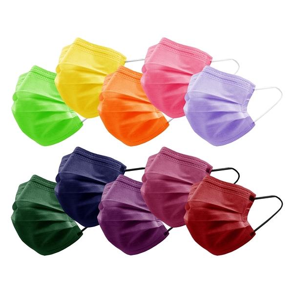 【3期零利率】全新 RM-A126 一次性防護彩色滿版口罩10入/包 熔噴布 (非醫療) 含稅