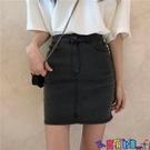 牛仔短裙 半身裙牛仔短裙女夏季2021新款高腰氣質包臀裙顯瘦小個子黑色裙子寶貝計畫 上新