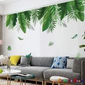 壁貼【橘果設計】芭蕉葉熱帶植物 DIY組合壁貼 牆貼 壁紙 室內設計 裝潢 無痕壁貼 佈置
