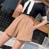 花苞闊腿短褲女夏新款外穿顯瘦高腰韓版寬鬆五分雪紡褲女裝潮 三角衣櫃
