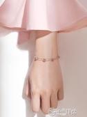 手鍊 草莓晶手鍊女純銀小眾簡約學生轉運桃花運招桃花粉水晶手鍊