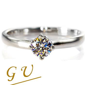 【GU鑽石】A41 純銀飾品求婚戒指結婚戒指生日禮物擬真鑽GresUnic Apromiz 35分魅力鑽戒