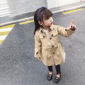 女童風衣外套春秋2019新款洋氣韓版中長款兒童秋季上衣女寶寶秋裝