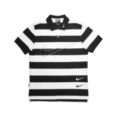 Nike 短袖T恤 NSW Swoosh Polo 黑 白 條紋 男款 Polo衫 運動休閒 【ACS】 CJ4910-011