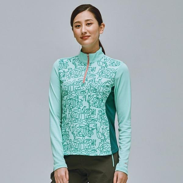 【下殺↘990】ADISI 女UPF50+防曬長袖半門襟排汗衣AL2111098 (S-2XL) / 抗紫外線 CoolFree 彈性 吸濕速乾