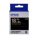 EPSON LK-5BKP C53S655407 粉彩系列黑底金字標籤帶 寬度18mm