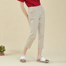【中大尺碼】MIT冰涼紗釘釦牛仔中褲