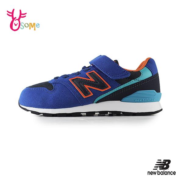New Balance童鞋 996童 NB童 男童運動鞋 男童跑步鞋 透氣 耐磨 休閒運動鞋 P8483#藍橘◆奧森