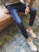 牛仔褲 牛仔褲秋季修身韓版潮流小腳褲秋冬款長褲男褲子黑色加絨 High酷樂緹