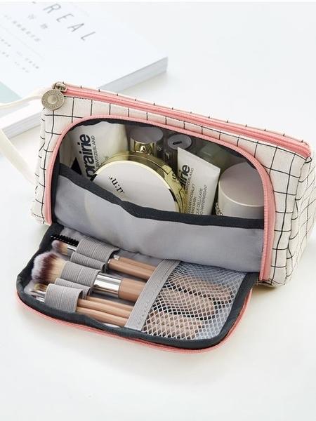 韓國創意新簡約女生小清新可愛大容量文具筆袋高中男大學生鉛筆盒    交換禮物