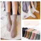 秋冬季襪子女中筒襪韓版學院風加厚加絨保暖...