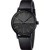 Calvin Klein CK boost 鼓動系列極簡手錶-綠時標/41mm K7Y214CL