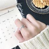 戒指 銀飾簡約可愛小貓咪耳朵S925純銀戒指女開口戒尾戒指環手飾品 「潔思米」