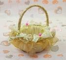 一定要幸福哦~~幸福花童籃(金色)~喜糖籃、玫瑰花瓣、小花童