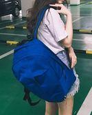 雙肩包男潮流時尚休閒帆布背包簡約百搭學生書包女戶外旅行包運動 艾尚旗艦店
