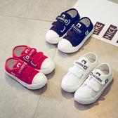 兒童小白鞋男童帆布鞋女新品春秋童鞋學生些休閒鞋板鞋寶寶帆布鞋台秋節88折