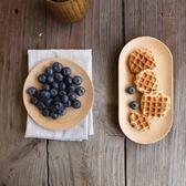 日式櫸木小圓盤壽司盤餐盤 小菜碟點心盤蛋糕盤干果碟毛巾碟 挪威森林