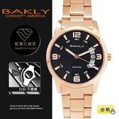 【完全計時】手錶館│BAKLY 美國意念  BA3086-1 39mm藍寶石水晶玻璃 小b 扇形日期 玫瑰金