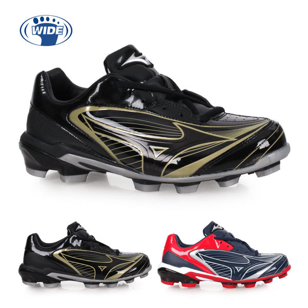 MIZUNO SELECT 9 男女棒壘球鞋-WIDE(免運 寬楦 棒球 壘球 美津濃≡體院≡