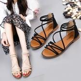 百搭涼鞋女鞋平底鞋春季新款鞋子學生羅馬鞋夏季仙女鞋沙灘鞋 週年慶降價