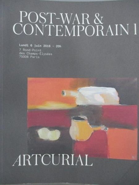 【書寶二手書T3/收藏_JX6】Artcurial_Post-war&Contemporain I_2016/Juin/6