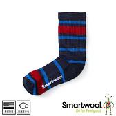 【SmartWool 美國 童健行輕量避震條紋中長襪《深海軍藍》】SW001212/排汗襪/保暖襪/運動襪/兒童襪