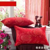 婚慶枕頭枕芯一對新婚 喜成人結婚大紅色單人枕 1個枕心柔軟 QG6863『樂愛居家館』