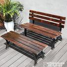 排椅防腐木戶外靠背椅子休閑凳子庭院排椅實木長條公園椅室外鐵藝長椅 非凡小鋪LX