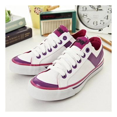 PONY 經典帆布鞋--Shooter--白紫桃紅--923U1U10SW--女 6折好康