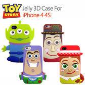 iae創百市集【DISNEY迪士尼 玩具總動員】iPhone4 4S 3D立體手機套 三眼怪 胡迪WOODY 巴斯光年BUZZ