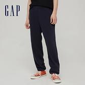 Gap男裝 碳素軟磨系列 法式圈織簡約風抽繩休閒褲 790269-海軍藍