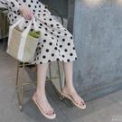 涼鞋 仙女風涼鞋新款兩穿細帶簡約露趾沙灘鞋平底羅馬涼鞋女夏  『優尚良品』