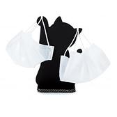 小禮堂 日製 造型紙質口罩立架 口罩掛架 口罩架 口罩夾 飾品架 (黑貓) 4527231-05808