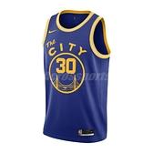 Nike 球衣 Golden State Warriors Classic Edition NBA Swingman Jersey 藍 黃 男款 金州 勇士隊 【ACS】 CN1024-497