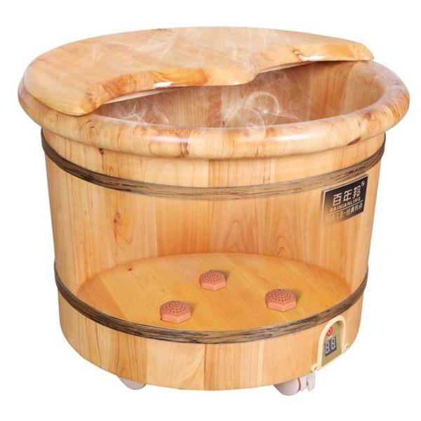 泡腳桶恒溫桶加熱泡腳木桶香柏木足浴盆電加熱洗腳盆家用220v  青木鋪子ATF